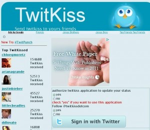 twitkiss 300x261 15 Cool Twitter Tools You Can Try