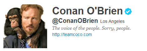 conan 12 Funny And Witty Celebrity Twitter Bios