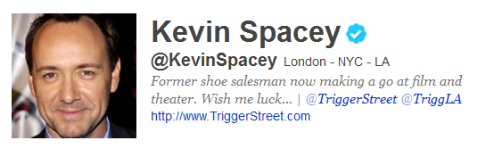 kevinspacey 12 Funny And Witty Celebrity Twitter Bios