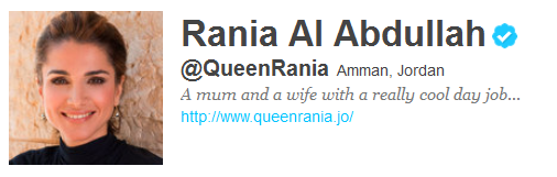 queenrania 12 Funny And Witty Celebrity Twitter Bios