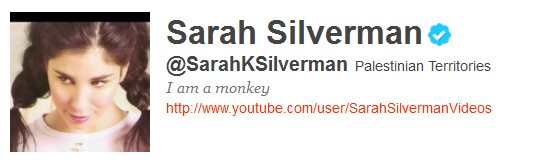 sarahsilverman 12 Funny And Witty Celebrity Twitter Bios